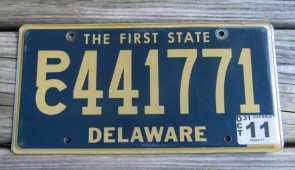 Delaware The First State License Plate 2011