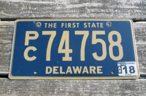 Delaware The First State License Plate 2018