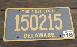 Delaware The First State License Plate 2016