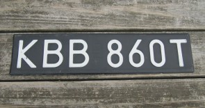 Poland Black White License Plate KBB 860T