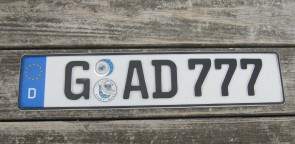 Germany License Plate City of Gera Thuringia GAD 777