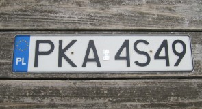 Poland Euro-band License Plate PKA 4 S 49