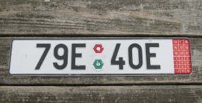 Czech Republic Export License Plate 79E40E