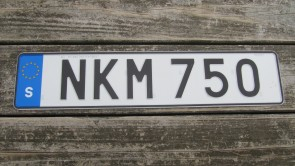 Sweden Euro Band License Plate NKM 750