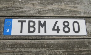 Sweden Euro Band License Plate TBM 480