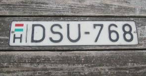 Hungary Flag License Plate DSU 768