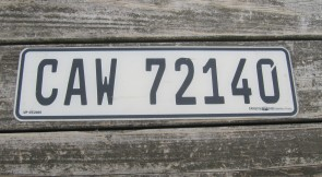 South Africa License Plate CAW 72140