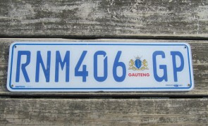 South Africa License Plate Gauteng RNM 406 GP