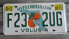 Florida Double Orange My Florida License Plate 2012 Sunshine State
