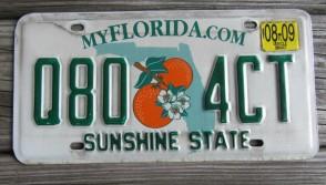 Florida Double Orange My Florida License Plate 2009 Sunshine State