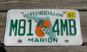 Florida Double Orange My Florida License Plate 2011 Sunshine State