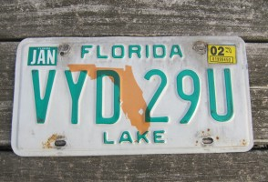 Florida Motorcycle License Plate Double Orange 2018