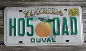Florida Big Orange License Plate 2006