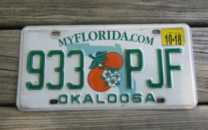 Florida Double Orange My Florida License Plate 2018 Sunshine State