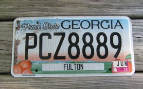 Georgia Peach State License Plate 2013