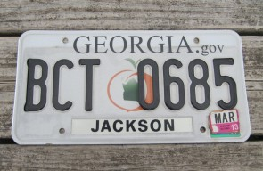 Georgia Peach License Plate 2013