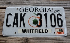 Georgia Peach License Plate 2012