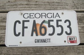 Georgia Peach License Plate 2018