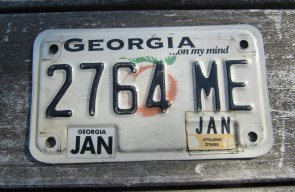 Georgia Motorcycle License Plate On My Mind Peach 2010