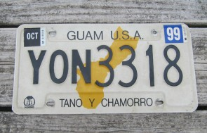 Guam USA Map License Plate Tano Y Chamorro 1999