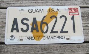 Guam USA Map License Plate Tano Y Chamorro 2006