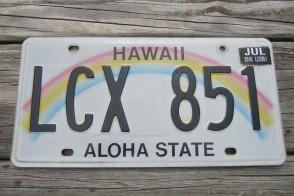 HawaII Rainbow Aloha State License Plate 2016