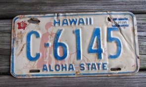 Hawaii King Kamehameha License Plate Aloha State 1978