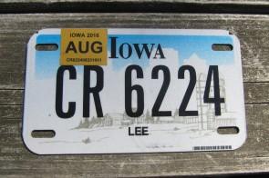 Iowa Motorcycle Farm Scene License Plate 2016