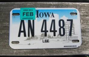 Iowa Motorcycle Farm Scene License Plate 2014