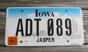 Wisconsin Farm Trailer License Plate 1955 Motorcycle Sized