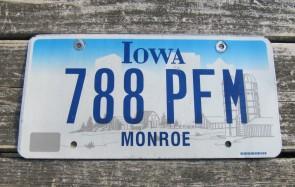 Iowa Farm Scene License Plate Monroe County