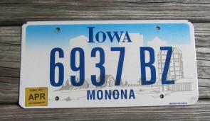 Iowa Farm Scene License Plate Monona County 2007