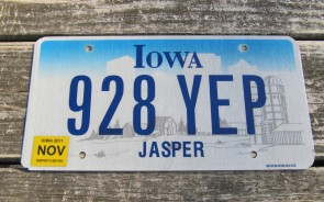 Iowa Motorcycle Farm Scene License Plate 2007