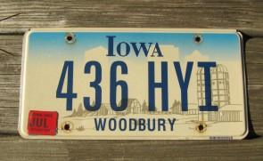 Iowa Farm Scene License Plate Pottawattamine County 2005