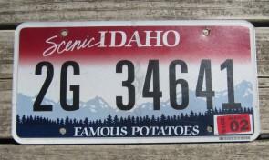 Idaho Scenic Famous Potatoes License Plate 2015