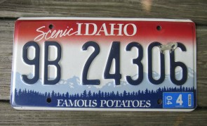 Idaho Scenic Famous Potatoes License Plate 2004