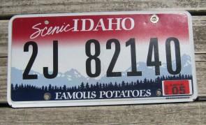 Idaho Scenic Famous Potatoes License Plate 2018