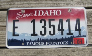 Idaho Scenic Famous Potatoes License Plate 2018