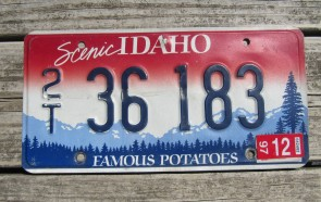 Idaho Scenic Famous Potatoes License Plate 2016