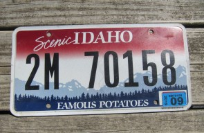 Idaho Scenic Famous Potatoes License Plate 2019