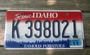 Idaho Scenic Famous Potatoes License Plate 2010