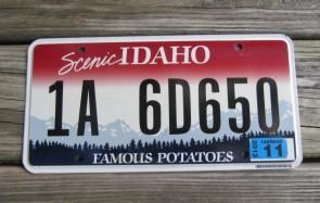 Idaho Scenic Famous Potatoes License Plate 2013