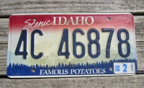 Idaho Scenic Famous Potatoes License Plate 2008