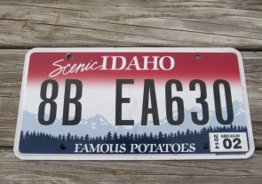 Idaho Scenic Famous Potatoes License Plate 2014