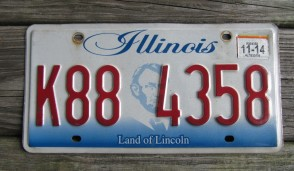 Illinois Land of Lincoln License Plate 2014