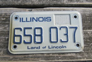 Illinois Motorcycle Land of Lincoln License Plate 1980's