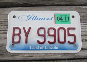 Illinois Motorcycle Land of lincoln License Plate 2011