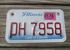 Illinois Motorcycle Land of lincoln License Plate 2016