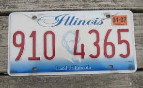 Illinois Land of Lincoln License Plate 2007
