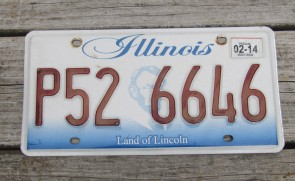 Illinois Land of Lincoln License Plate 2015